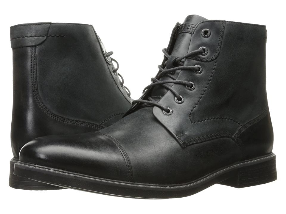 Rockport Classic Break Cap Toe Zip Boot (Dark Shadow Leather) Men
