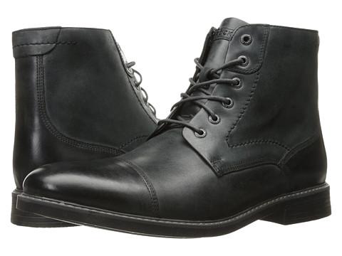 Rockport Classic Break Cap Toe Zip Boot - Dark Shadow Leather