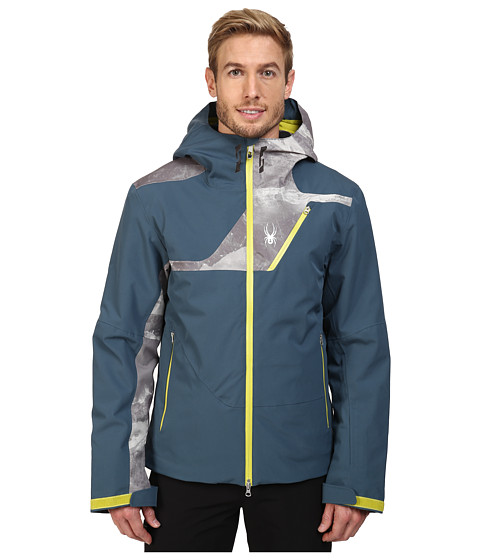 Spyder Axel Insulated Jacket - Union Blue/Mountain Camo Weld Print/Sulfur