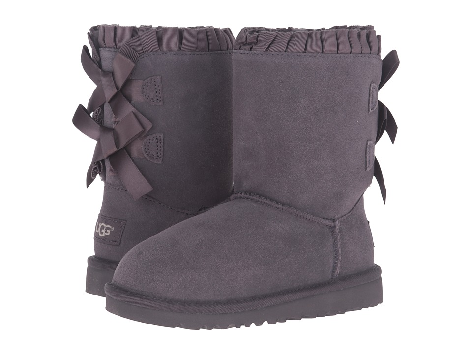 UGG Kids Bailey Bow Ruffles (Little Kid/Big Kid) (Nightfall) Girls Shoes