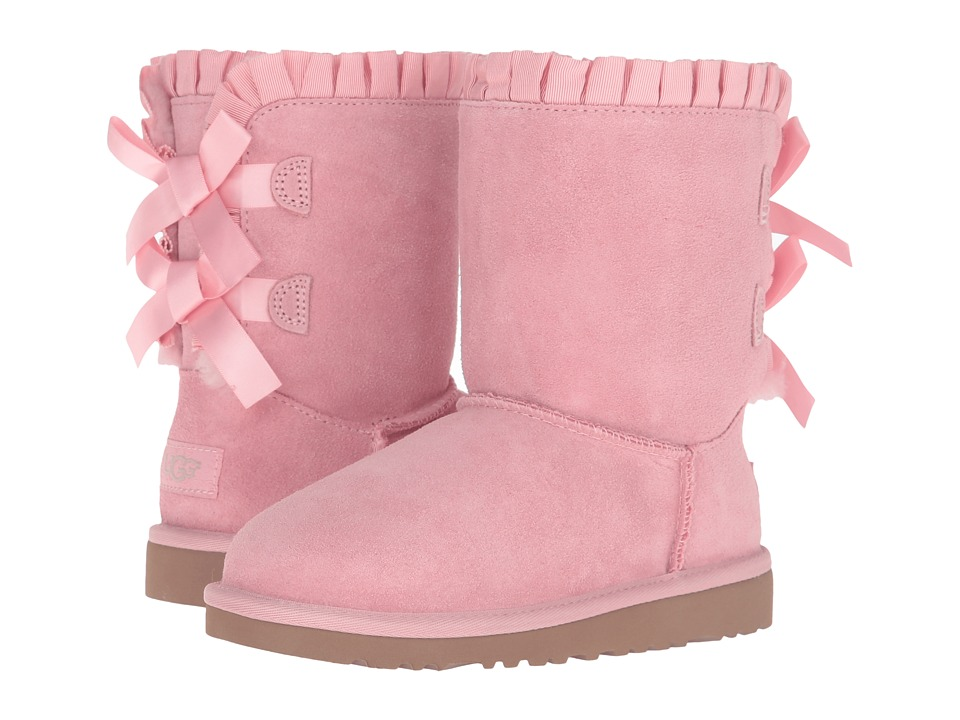 UGG Kids Bailey Bow Ruffles (Little Kid/Big Kid) (Baby Pink) Girls Shoes