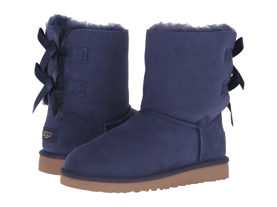 UGG Kids Bailey Bow (Big Kid) (Solid Peacoat) Girls Shoes