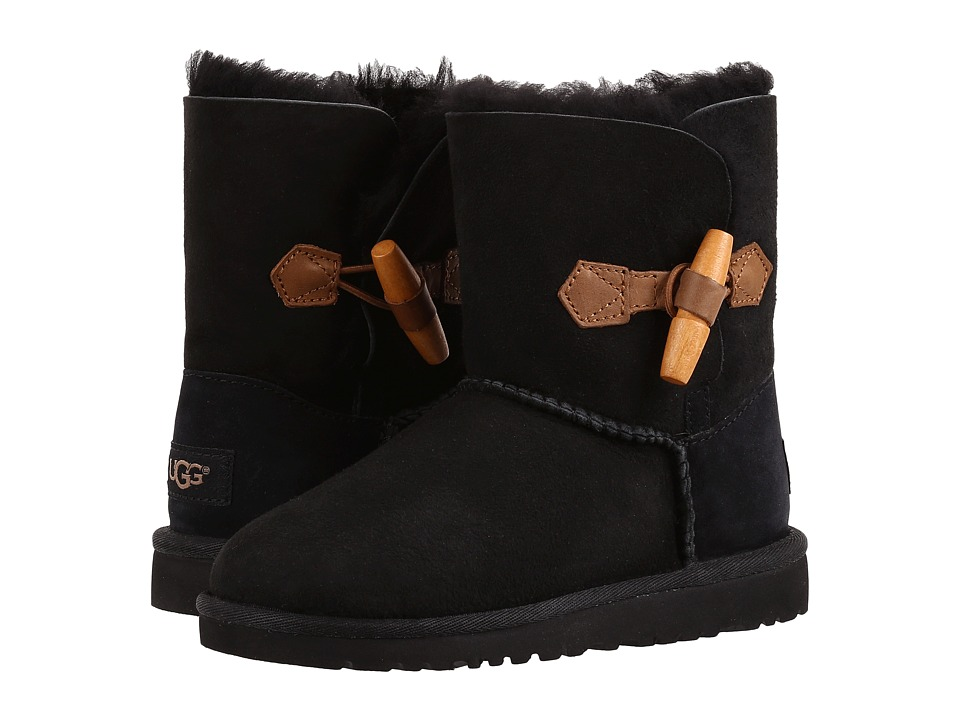 UGG Kids Ebony (Little Kid/Big Kid) (Black) Girls Shoes