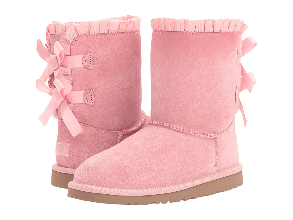 UGG Kids Bailey Bow Ruffles (Big Kid) (Baby Pink) Girls Shoes