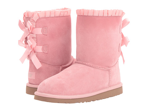 UGG Kids Bailey Bow Ruffles (Big Kid) - Baby Pink