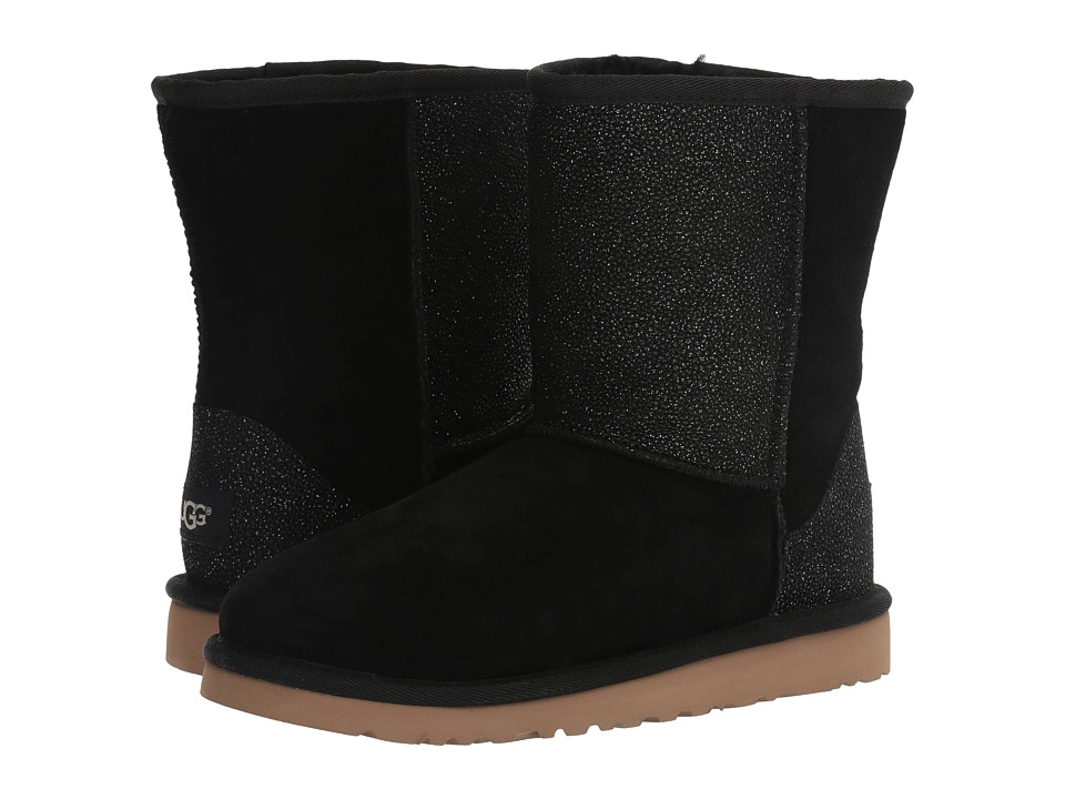 Ugg Kids - Classic Short Serein (Big Kid) (Black) Girls S...