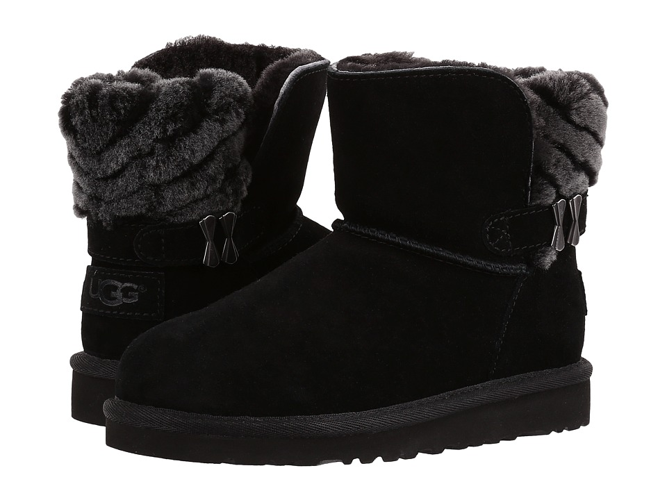 UGG Kids Analia (Little Kid/Big Kid) (Black) Girls Shoes