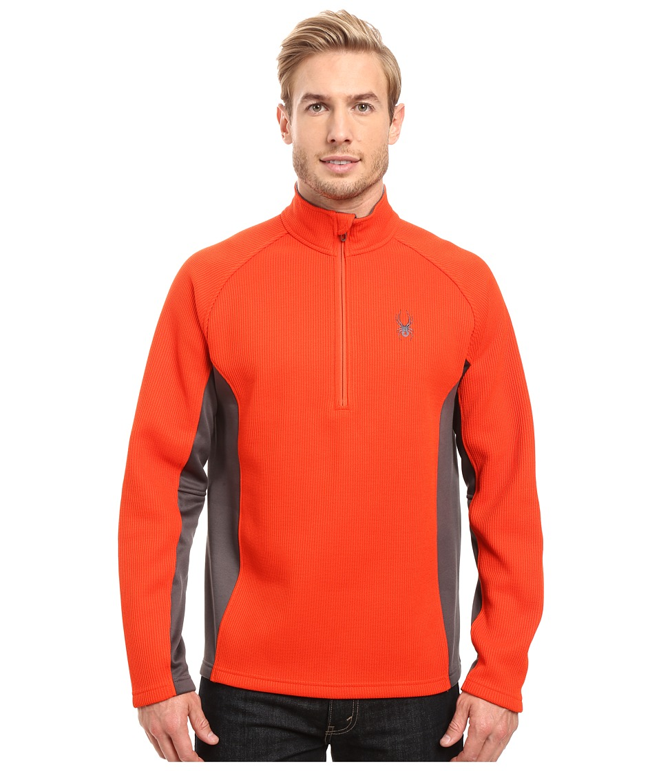 Spyder Outbound Half Zip Mid Weight Core Sweater (Rage/Polar/Rage) Men