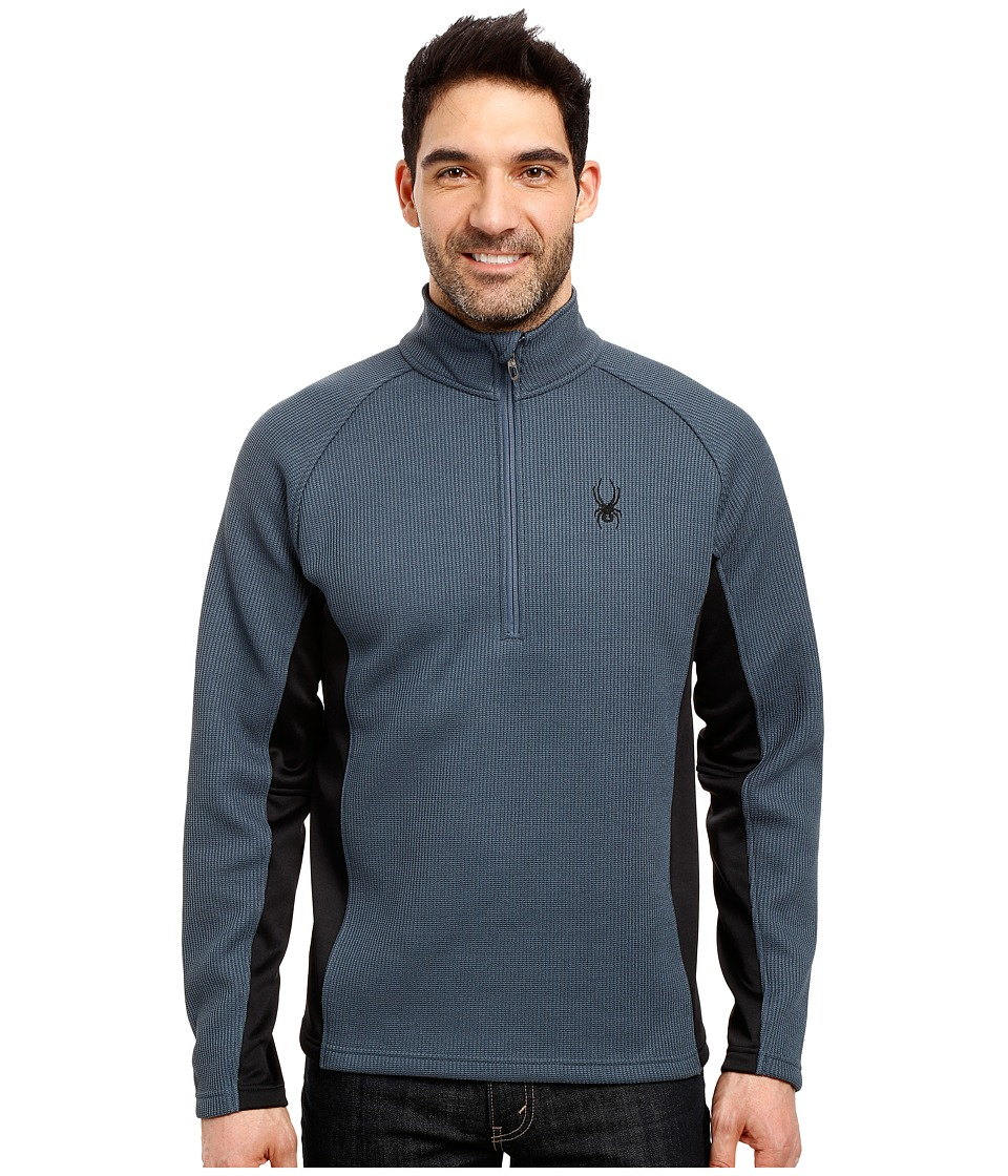 Spyder Outbound Half Zip Mid Weight Core Sweater (Union Blue/Black/Union Blue) Men
