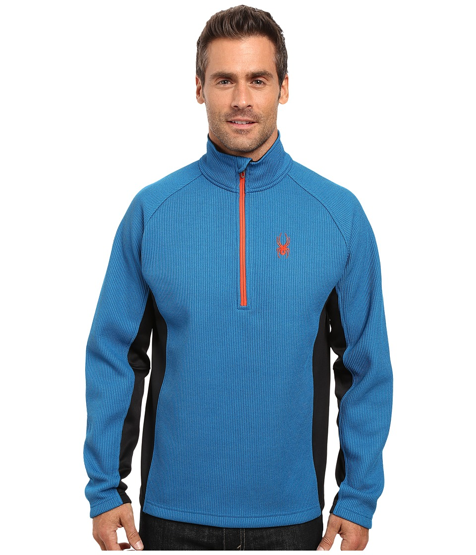 Spyder Outbound Half Zip Mid Weight Core Sweater (Concept Blue/Black/Rage) Men