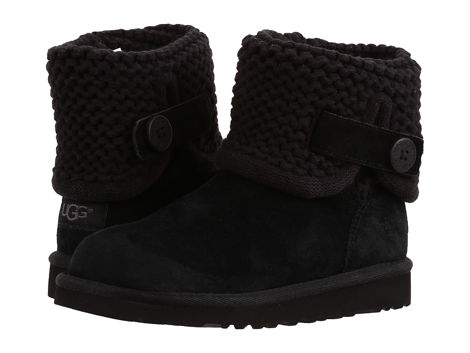 UGG Kids Darrah (Little Kid/Big Kid) (Black) Girls Shoes