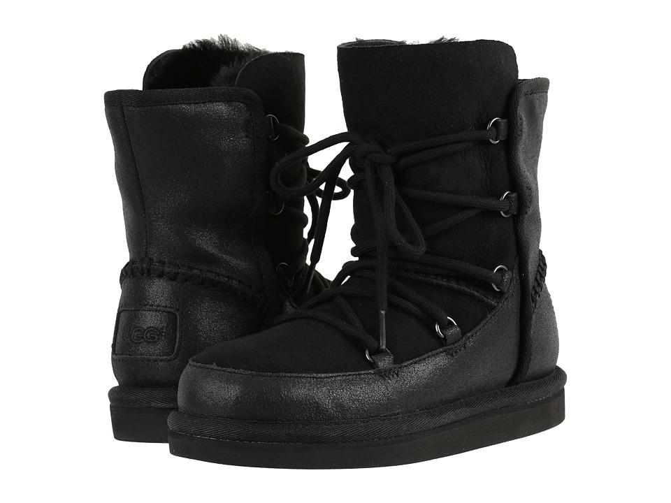 UGG Kids Eliss (Little Kid/Big Kid) (Black) Girls Shoes