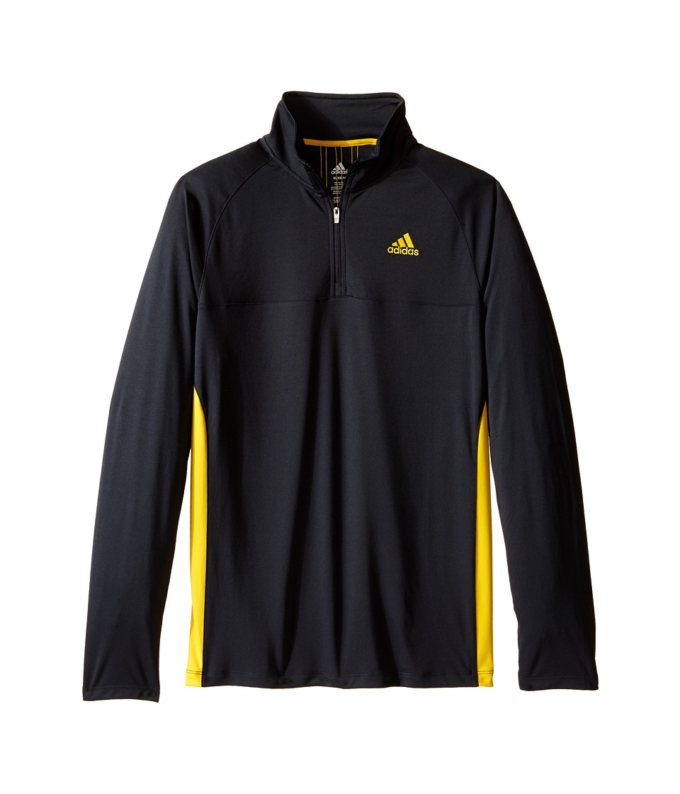 adidas Kids 1/4 Zip Big Kids Dark Grey/EQT Yellow Boys Long Sleeve Pullover