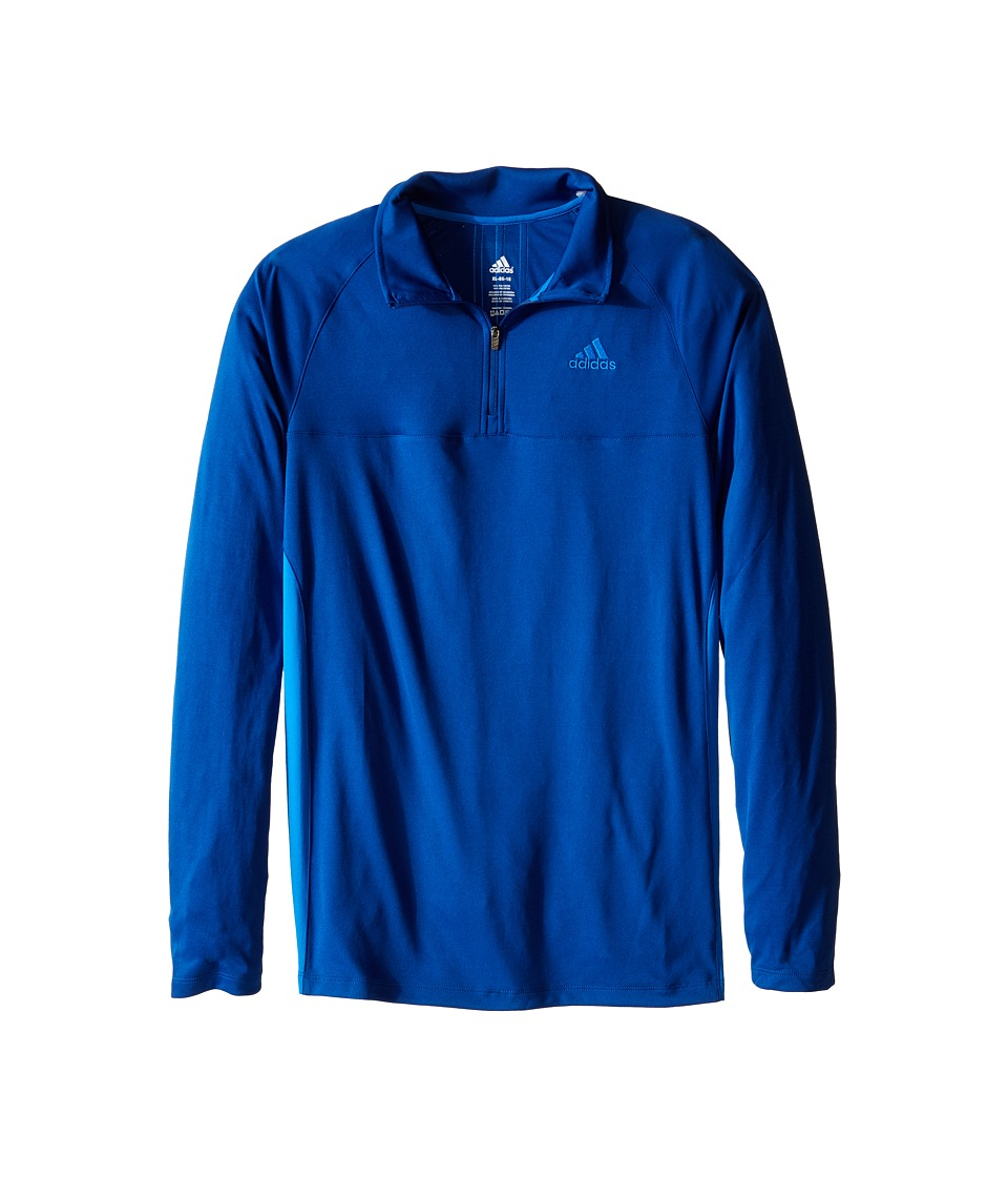 adidas Kids 1/4 Zip Big Kids EQT Blue/Shock Blue Boys Long Sleeve Pullover