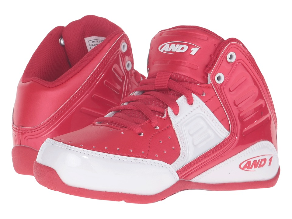 Image of AND1 Kids - Rocket 4 (Little Kid/Big Kid) (F1 Red/White) Boys Shoes