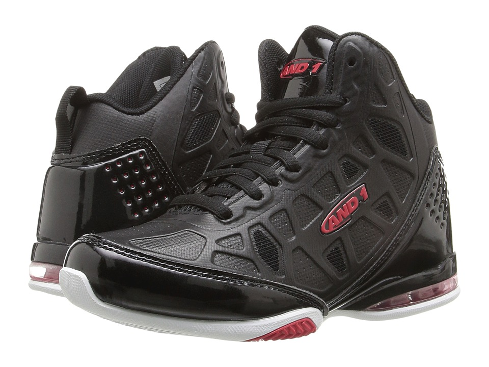 AND1 Kids Master 3 (Little Kid/Big Kid) (Black/Red) Boys Shoes