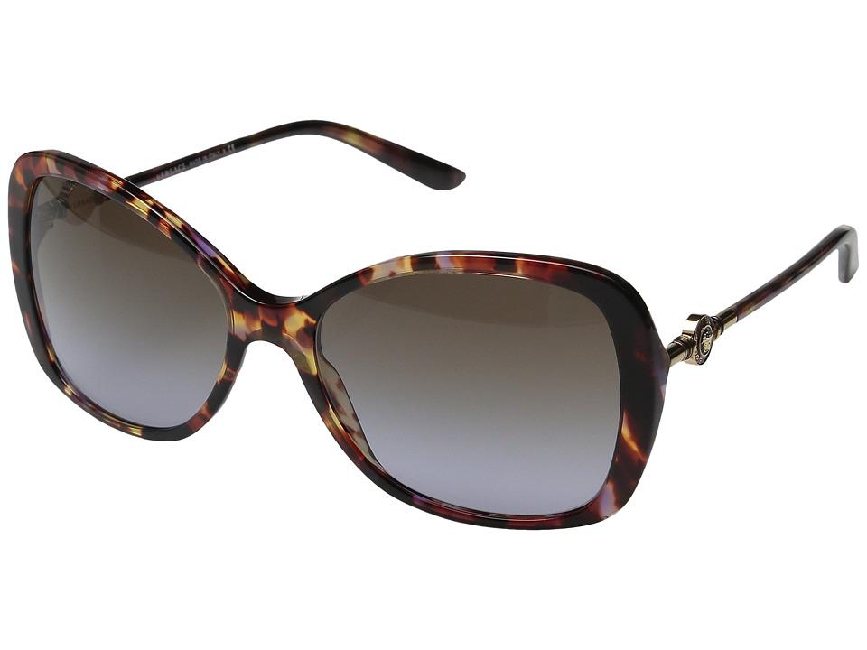 Versace VE4303 Havana Transparent Violet/Violet Gradient Brown Fashion Sunglasses