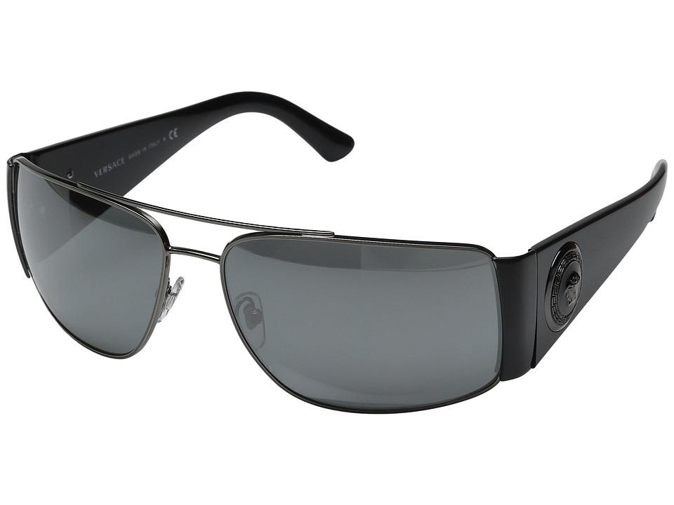 Versace VE2163 Anthracite/Grey Mirror Silver Fashion Sunglasses