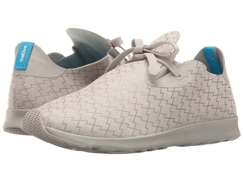 Native Shoes Embroidered Apollo Moc Pigeon Grey/Pigeon Grey/Lightning Slip on Shoes