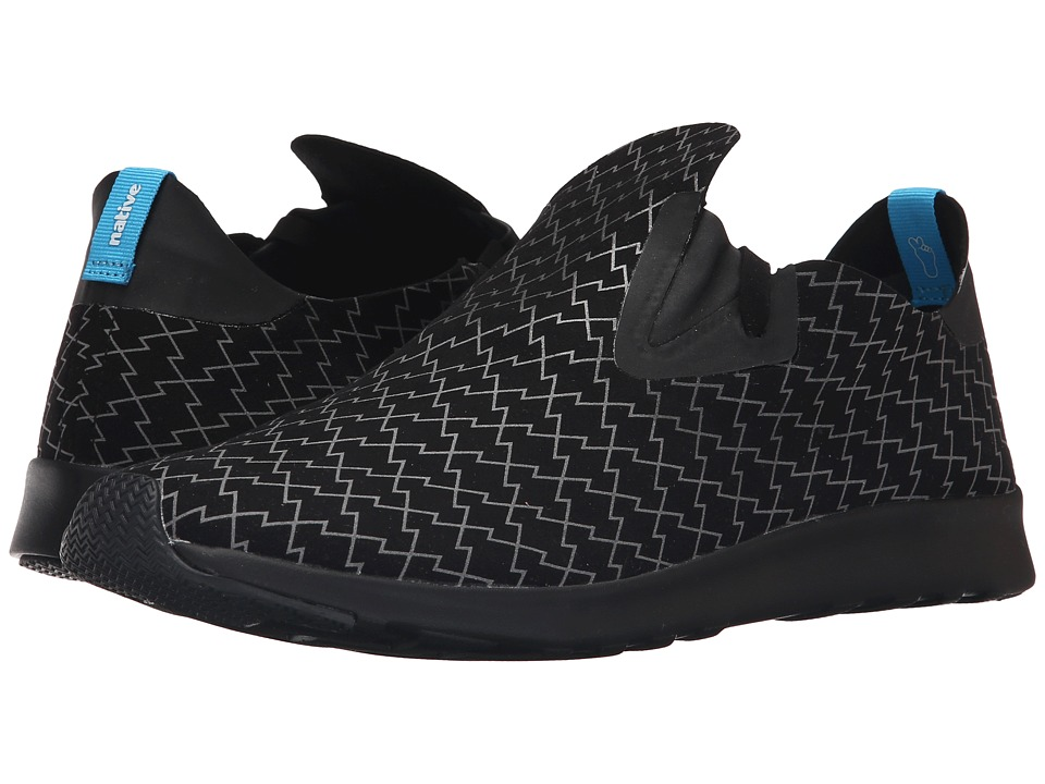 Native Shoes Embroidered Apollo Moc Jiffy Black/Jiffy Black/Lightning Slip on Shoes