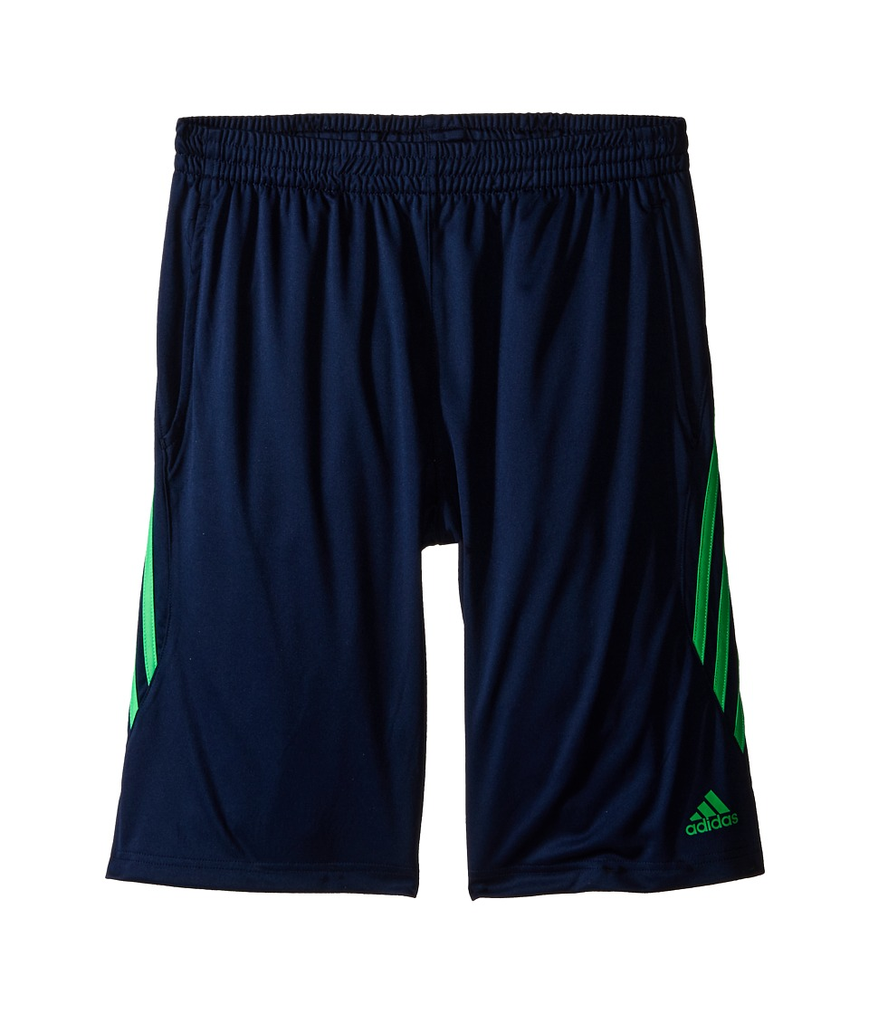 adidas Kids Ultimate Core Shorts Big Kids Collegiate Navy/Solar Lime Boys Shorts