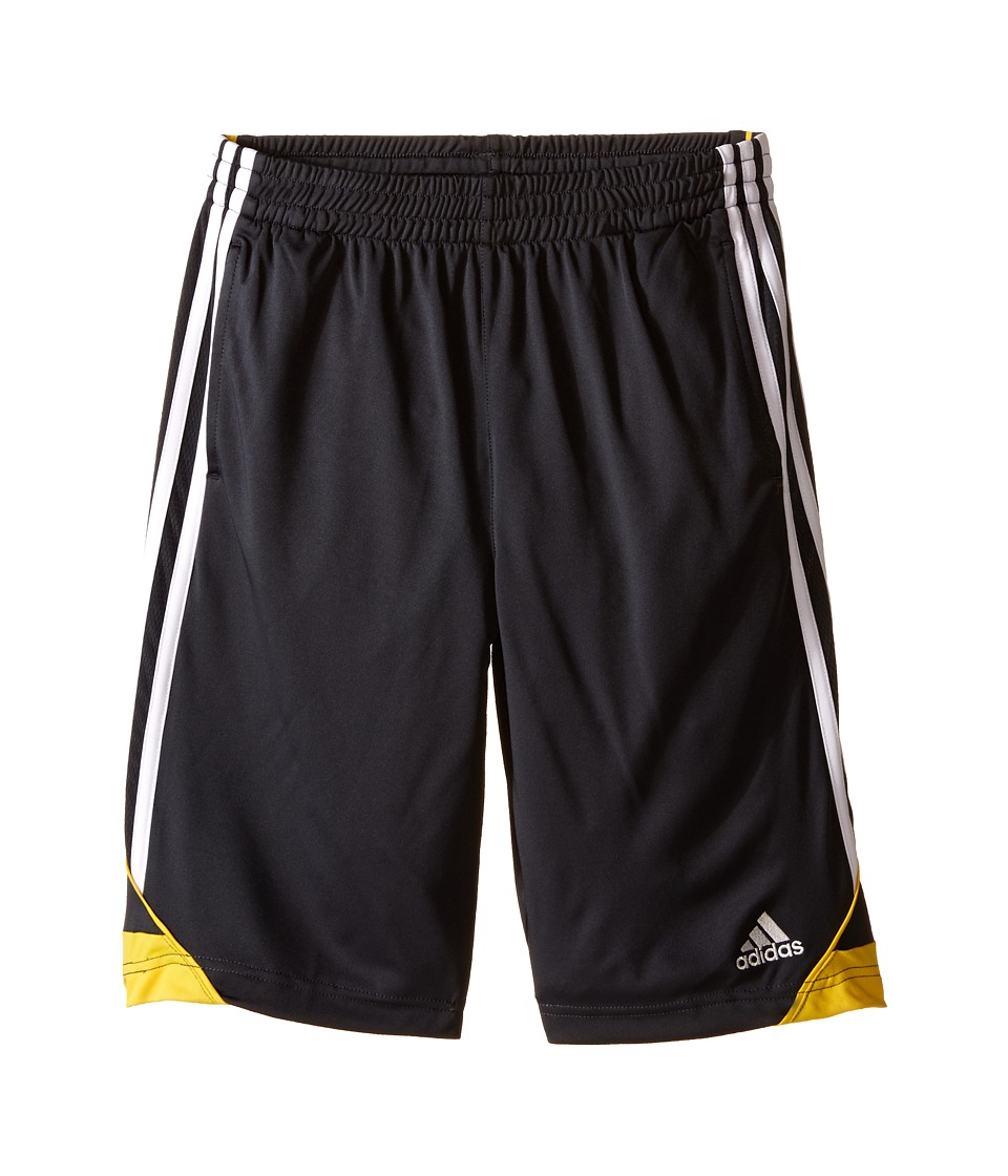 adidas Kids 3G Speed Shorts Big Kids Dark Grey/EQT Yellow Boys Shorts