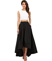 Aidan Mattox - Sequin Cap Sleeve Crop Top with A-Line Taffeta Ball Skirt