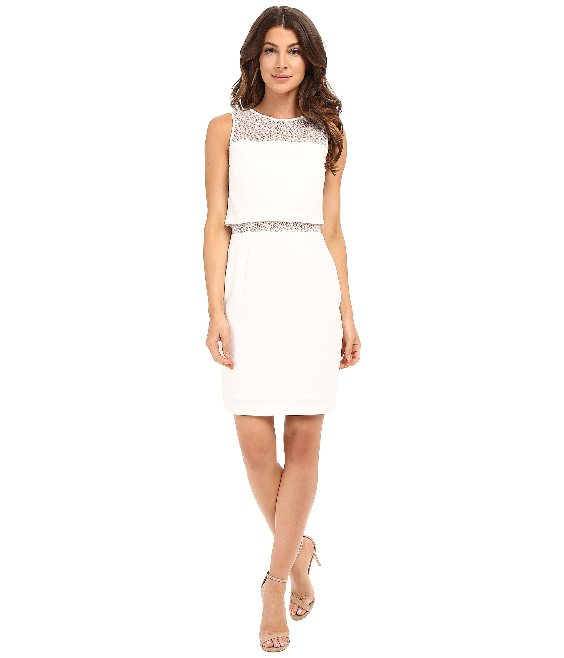 V front white dress youth