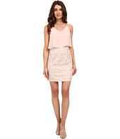 Aidan Mattox - Pop Over Chiffon Top with Embroidered Skirt