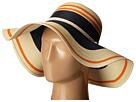 LAUREN Ralph Lauren Paper Straw Blocked Stripe Sun Hat