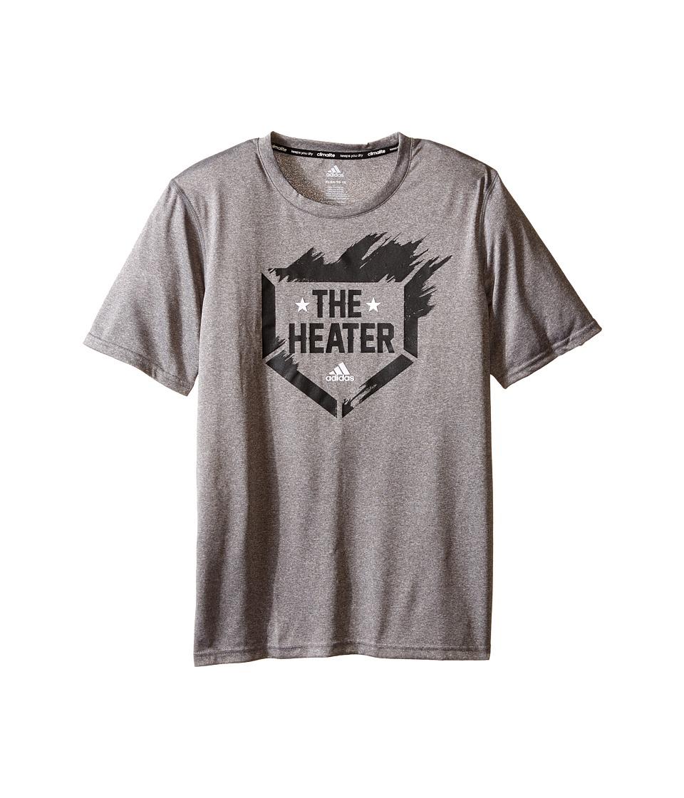 adidas Kids - The Heater Tee (Big Kids) (Medium Grey Heather) Boy