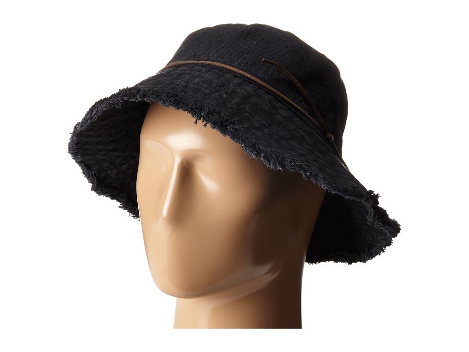 LAUREN Ralph Lauren Cotton Sunwashed Canvas Bucket Hat Black Bucket Caps
