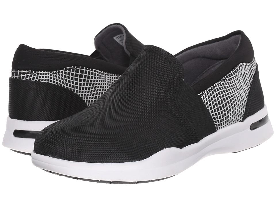 SoftWalk Vantage Black/Black/White Ballistic Nylon/3D Rubberized Womens Slip on Shoes