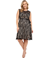 Christin Michaels - Plus Size Faith Lace Sleeveless Dress