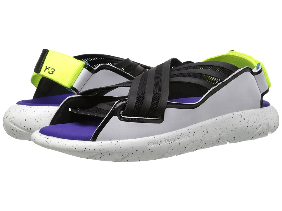 adidas Y 3 by Yohji Yamamoto Qasa Elle Sandal Core Black/White/Solar Yellow Womens Sandals
