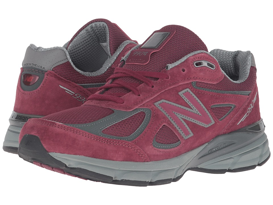 New Balance - M990V4 (Burgundy) Men's Shoes