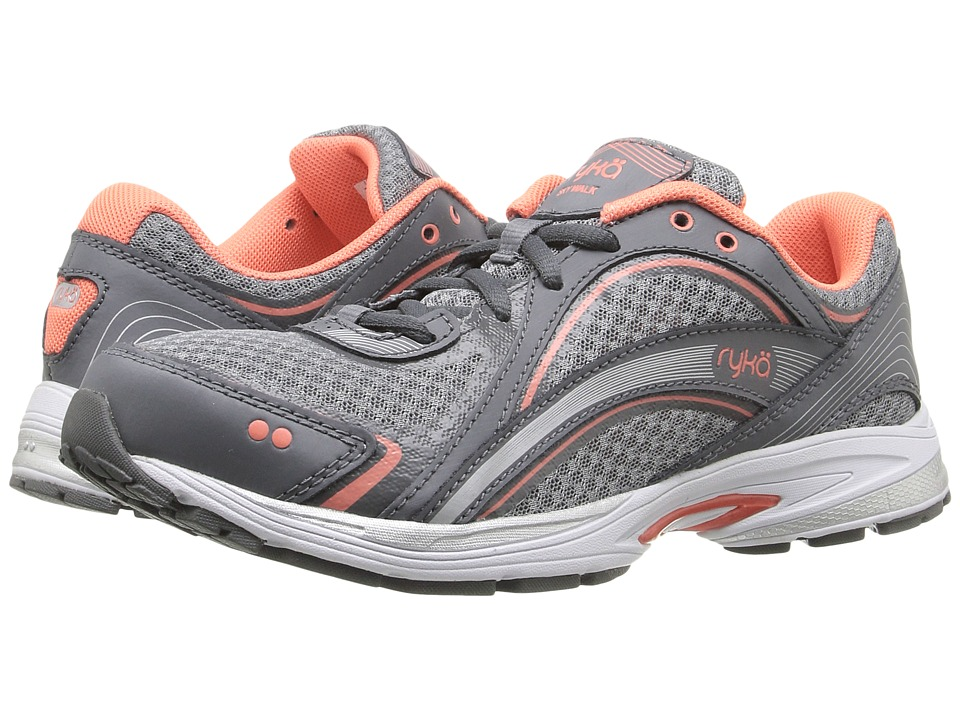 Ryka - Sky Walk (Iron Grey/Frost Grey/Fusion Coral) Womens Walking Shoes