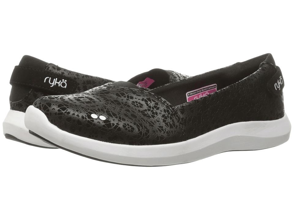Ryka - Amaze (Black/Fuchsia Purple/White/Chrome Silver) Women