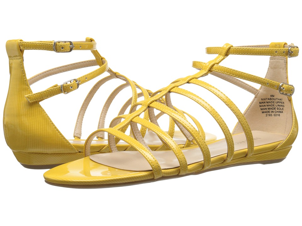 Nine West Aboutthat (Yellow Synthetic Y) Women