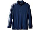 adidas Golf Kids 3-Stripes Jacket (Big Kids) (Blue/Miner Blue)