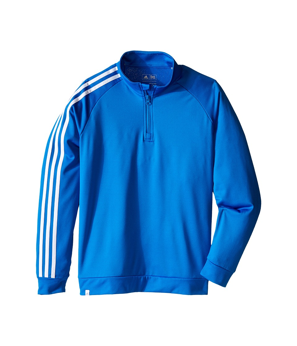 adidas Golf Kids - 3-Stripes Jacket (Big Kids) (Orange/Shock Blue) Boys Coat