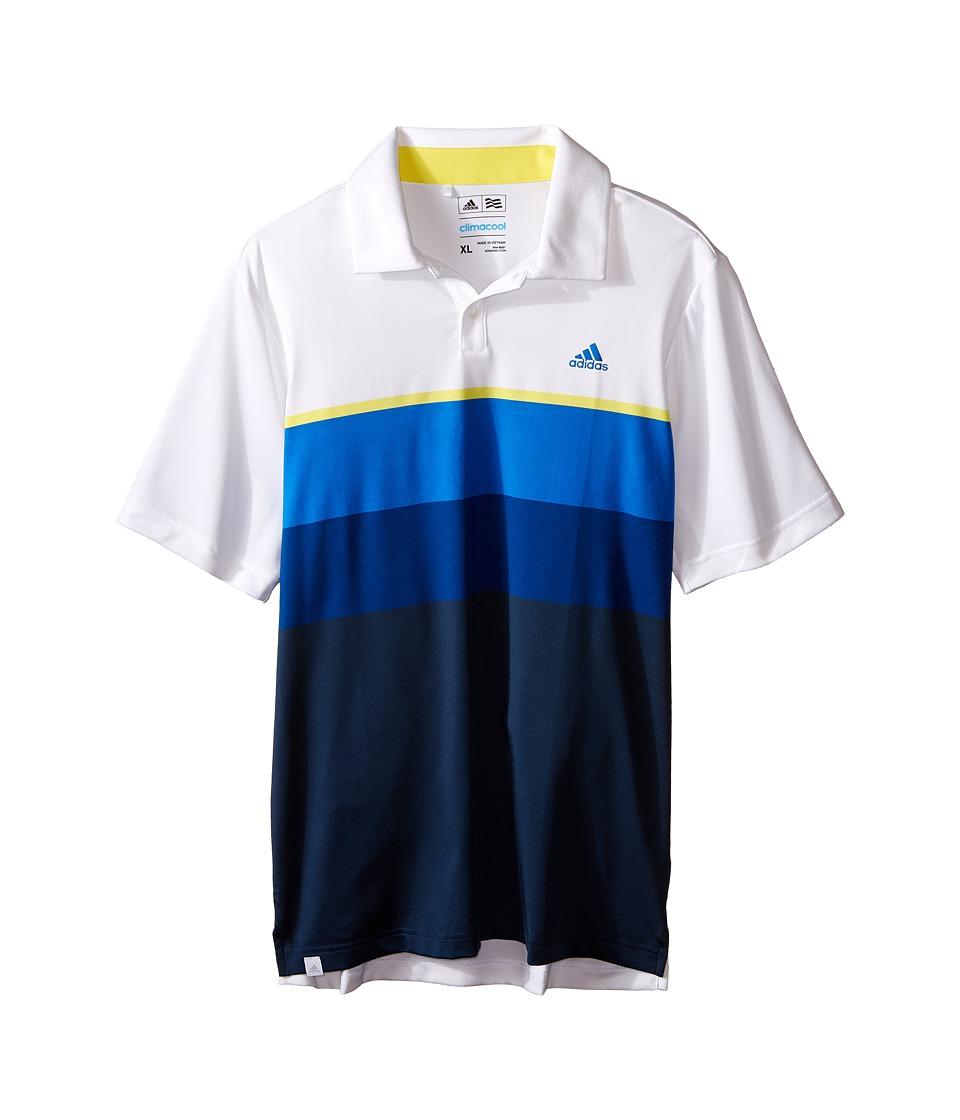 adidas Golf Kids Climacool Engineered Stripe Big Kids White/White/Yellow Boys Clothing