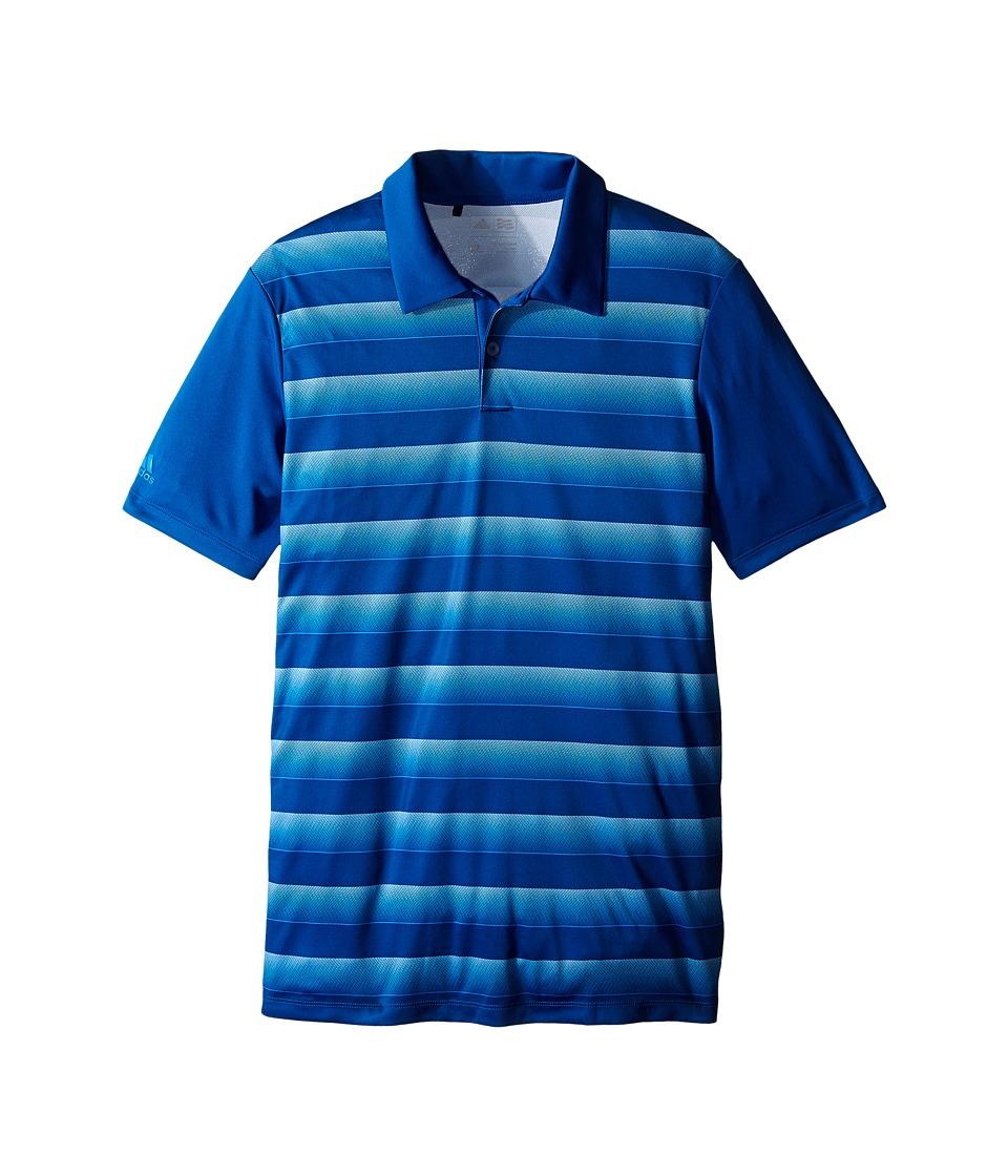 adidas Golf Kids Advantage Block Polo Big Kids Blue/EQT Blue Boys Clothing