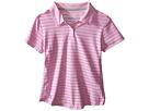 adidas Golf Kids Essential Cotton Hand Stripe Polo (Big Kids) (Pink/Wild Orchid)
