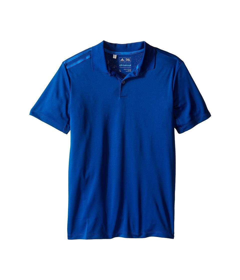 adidas Golf Kids Climacool 3 Stripes Polo Big Kids Blue/EQT Blue/Shock Blue Boys Clothing