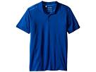 adidas Golf Kids Climacool 3-Stripes Polo (Big Kids) (Blue/EQT Blue/Shock Blue)
