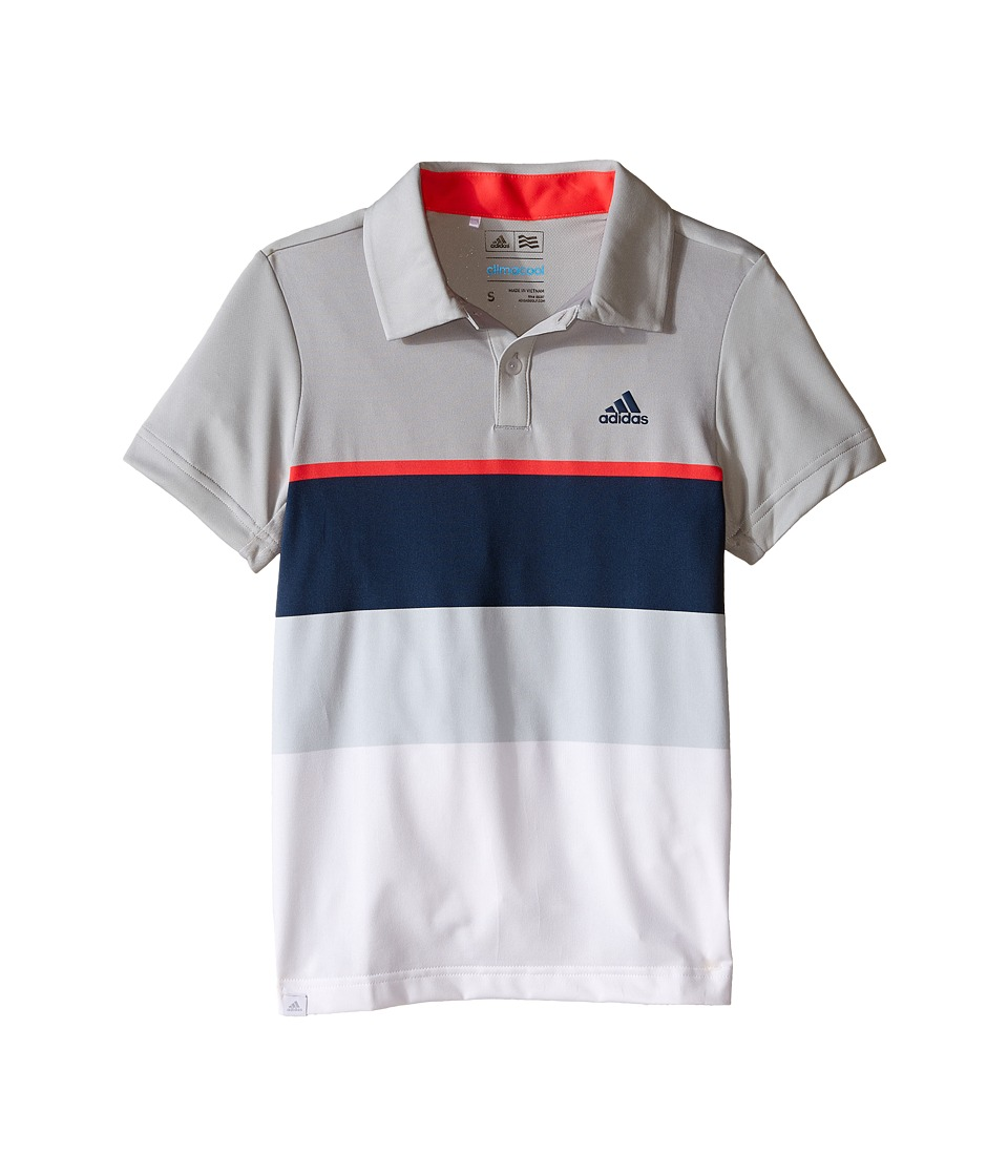 adidas Golf Kids Climacool Engineered Stripe Big Kids Beige/Stone/Shock Red Boys Clothing