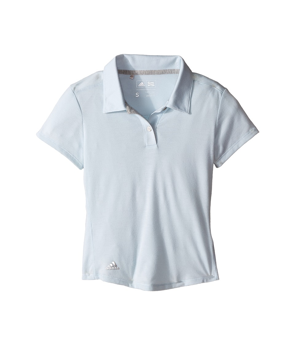 adidas Golf Kids - Climalite Essentials Short Sleeve Heathered Polo
