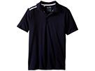 adidas Golf Kids Climacool 3-Stripes Polo (Big Kids) (Navy/Navy/White)