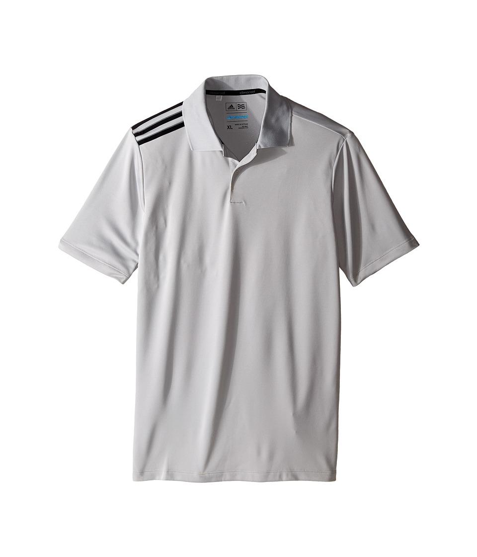 adidas Golf Kids Climacool 3 Stripes Polo Big Kids Beige/Stone/Black Boys Clothing